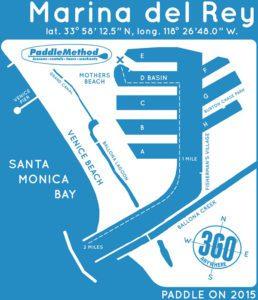 Marina del Rey Paddle Map