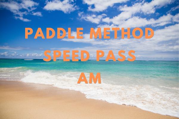 Lesson 1 Paddle